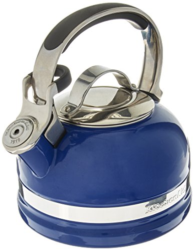 KitchenAid 2-Qt Steel Handle Band Tea Kettle Whistle KTEN20S