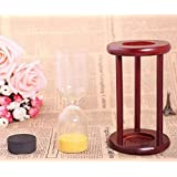 Wood Sand Glass Clock Hourglass Timer Decor,Empty,Put Your Wedding Ceremony Sand