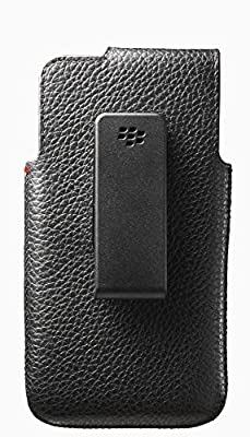 BlackBerry OEM Leather Swivel Holster for BlackBerry Z10 - Black by BlackBerry