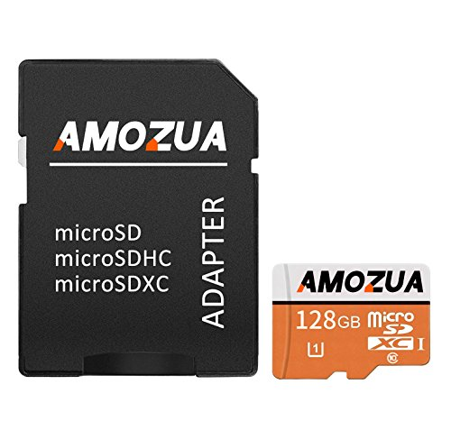 GAMOZUAY Micro SD Card 128GB Micro SDXC Class 10 High Speed Memory Card For Phone,Tablet and PCs – With Adapter (128GB)