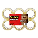 Scotch Commercial Grade Shipping Packaging Tape, 1.88 in x 54.6 yd, 6-Pack (3750-6)