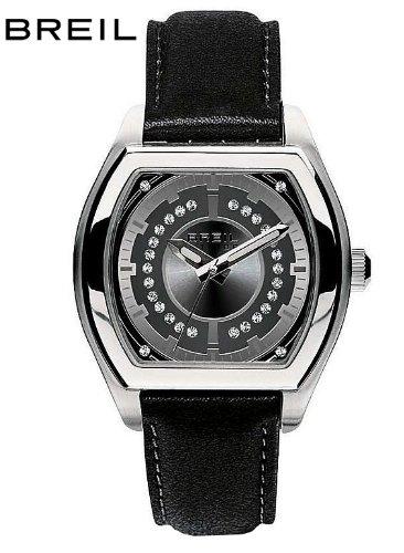 Breil Women's Watch Analogue Quartz TW0564 Black Leather Strap Black Dial