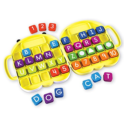 Learning Resources AlphaBee Alphabet, ABCs, Numbers, Shape & Word Recognition Activity Set, Multicolor ()