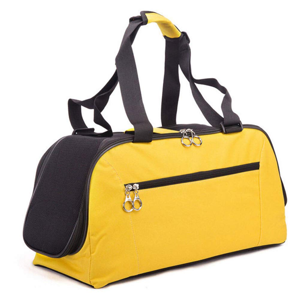 Yellow Medium Yellow Medium CHEN. Pet bag-cat bag dog bag out carrying bag travel bag travel bag pet supplies,Yellow,M