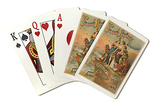 Frank Leslie's Illustrated Historical register of the Centennial ExpositionPoster USA c. 1876 (Playing Card Deck - 52 Card Poker Size with Jokers)