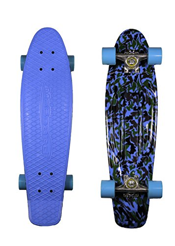 MoBoard 27' Inch Graphic Complete Skateboard (Blue Camo - Black)