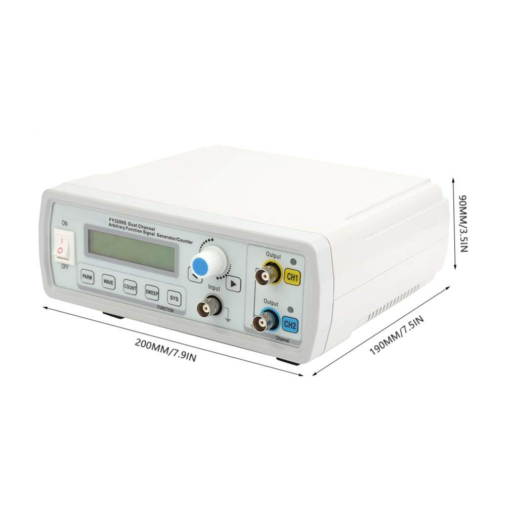 akozon Se/ñal Generador Funci/ón fy3200s AC85/ /260/V digital DDS generador de funci/ón zweik analiger arbitr/ärs ignal Generador Sinus onda onda de tri/ángulo Rect/ángulo onda sierra dientes onda,
