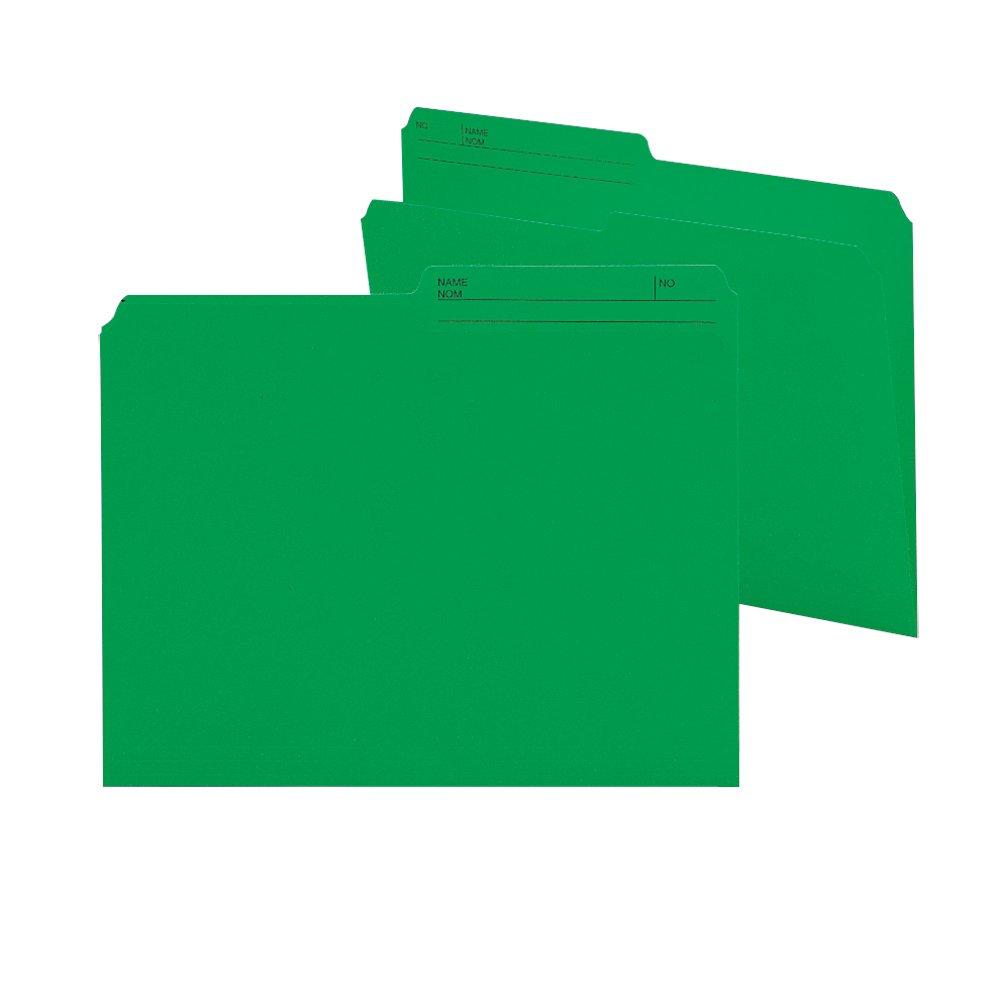 Smead 10368 File Folder, Letter, 1/2-Cut, 2 Reversible Tab, Dark Pink, 100 Per Box Smead CA