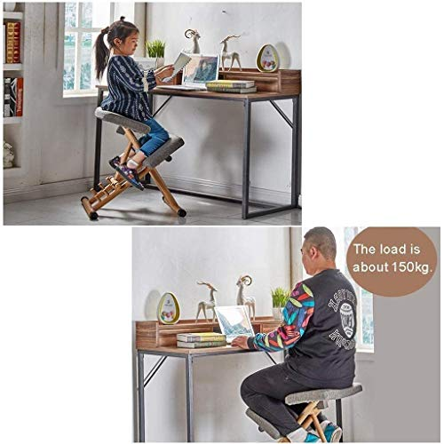 ZXL knäpall, ergonomisk knästol, knästol kontor justerbar stol, bär cirka 150 kg, kreativ barnlärande stol, knä justerbar stol