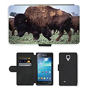 Super Stella Cell Phone Card Slot PU Leather Wallet Case // M00146654 Buffalo Bison American West Icon // Samsung Galaxy S4 Mini i9190