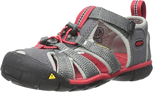 KEEN Kid's Seacamp II CNX Sandal, Magnet/Racing Red, 12 M US Little Kid
