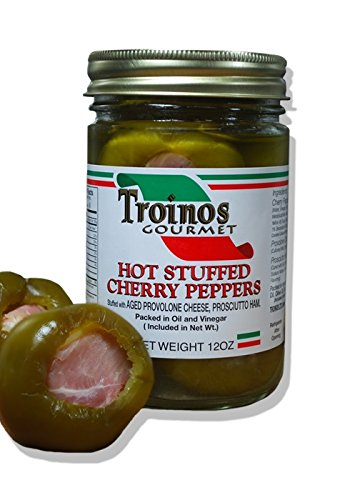 Stuffed Cherry Peppers with Prosciutto & Provolone, 12 Ounce (Cherry Ham)