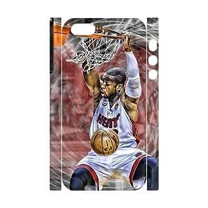 Customized case Dwyane Wade Diy 3D Case for iPhone 5,5S UN786686