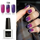 vinylux nail polish remover - 7mL Temperature Change Gel Nail Polish, Nail Art Gel Polish UV LED Gel