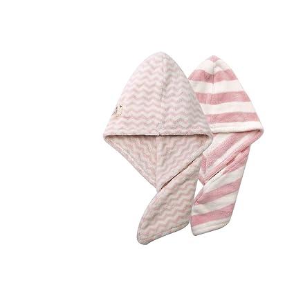 2 unidades rápida pelo Secar Toallas de mano para niña microfibra pelo Toalla Wrap ducha tapas