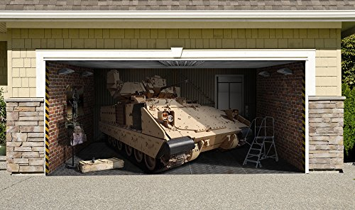 Army Fighting Vehicles - Bradley Fighting Vehicle Outdoor Decoration Military Army Independence Day Home Garage Door Banner Billboard