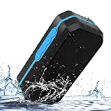 Portable Bluetooth Speaker Wireless Outdoor Sport Waterproof Stereo Speaker with Enhanced Bass, Built-in Dual Driver Speakerphone Handsfree Calling & TF Card Slot
