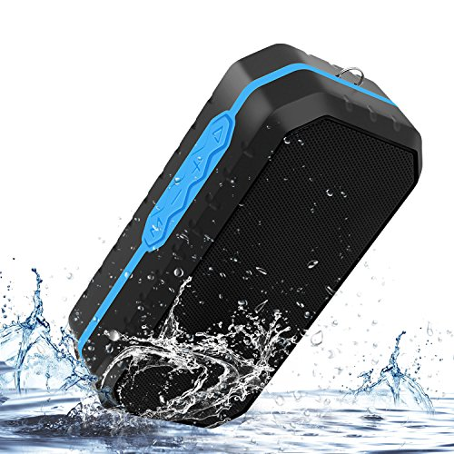 Portable Bluetooth Speaker Wireless Outdoor Sport Waterproof Stereo Speaker with Enhanced Bass, Built-in Dual Driver Speakerphone Handsfree Calling & TF Card Slot by Yiiyaa
