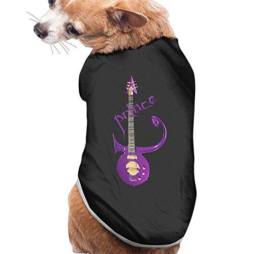 [Caxlorb PPrince Purple Rain Guitar Symbol 80s Cute Pet Shirt M Black] (80s Singers Costumes)