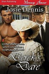 Derek's Dare [Lords of Hawksfell Manor 4] (Siren Publishing Menage Amour)
