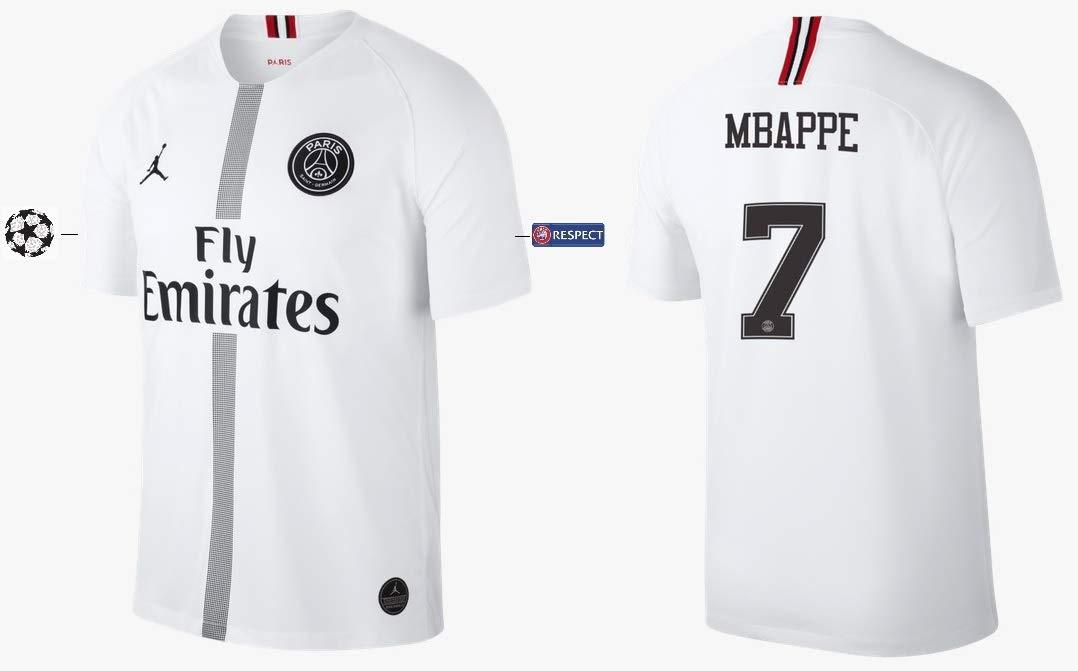PSG Trikot Kinder 2018-2019 Third Weiß UCL - Mbappe 7