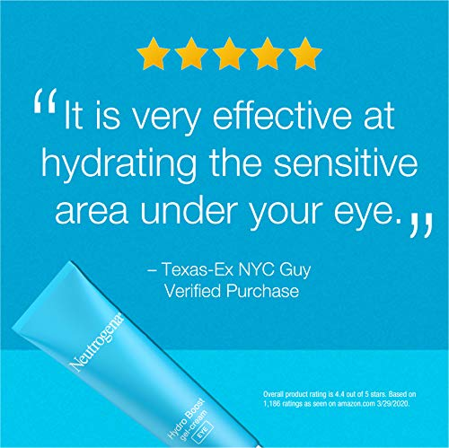 Neutrogena Hydro Boost Hydrating Gel Eye Cream with Hyaluronic Acid, Dermatologist Recommended Water Gel Under-Eye Cream…