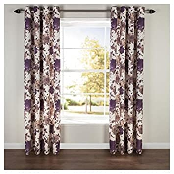 Bold Hand Painted Floral Pencil Pleat Curtains