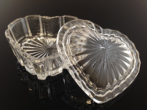 Beauticom crystal heart shaped stacking dish use for small for Heart shaped jewelry dish