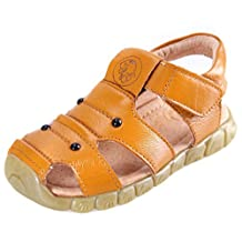 DADAWEN Children Boy's Girl's Leather Closed Toe Outdoor Beach Sandals (Toddler/Little Kid/Big Kid)