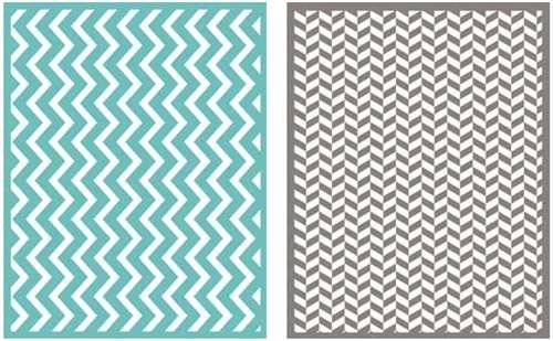 QUICKUTZ Lifestyle Crafts Zigzag Embossing Folder, 2-Pack