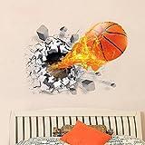 New 3D Basketball Wall Sticker Decal Living Room Bedroom Decor Men Teenager Boy Kid Children Baby Room Nursery Removable Wall Art Murals Wallpaper Poster