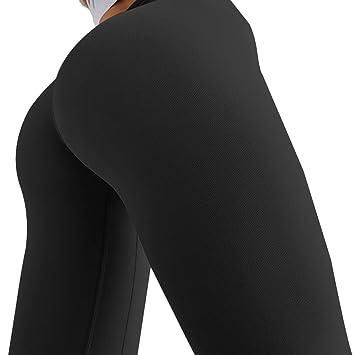 FIYOMET Pantalones de Yoga Mujeres Brocado Doble Cara ...