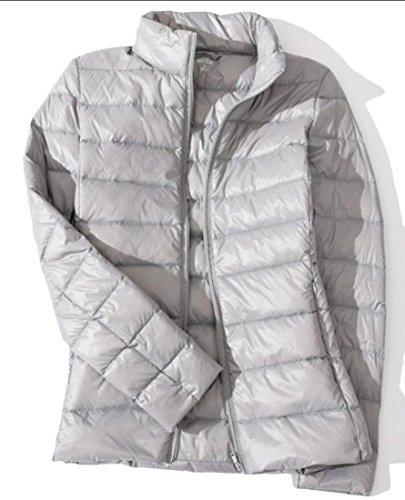 Coats Puffer Down Collar Stand Parka Silver Packable amp;W Women's M amp;S pFWU0zU7