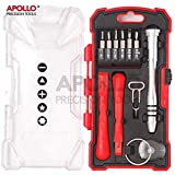 Hi-Spec 18 Piece Mobile Phone Repair kit Including Telescopic Ratcheting Screwdriver Antistatic Pry Tool Pentalobe Bits for Apple iPhone, iPad, iPod, Mac and Torx, Tri-wing Philips and Slotted Bits for Android and Electronic Devices in Case