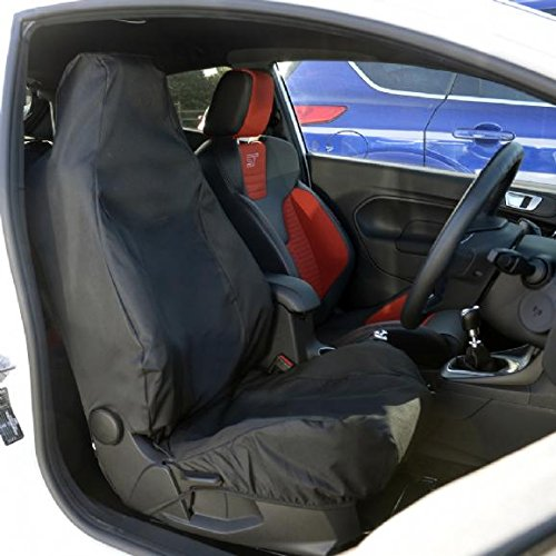 UK Custom Covers SC162B Tailored Waterproof Front Seat Cover Black