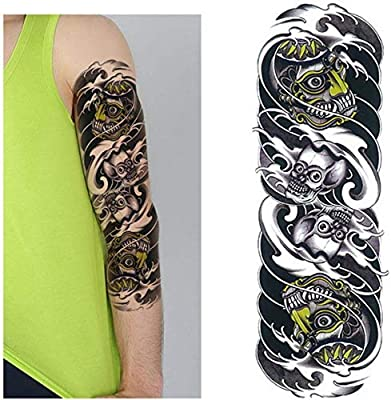 adgkitb 2 Piezas 48 cm de Largo Etiqueta engomada del Tatuaje del ...