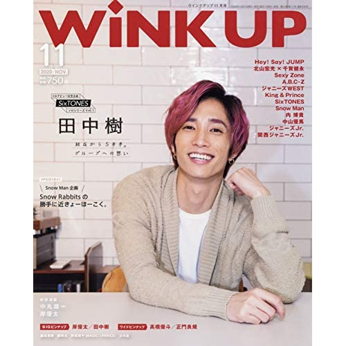 WiNK UP 2020年11月号 表紙画像