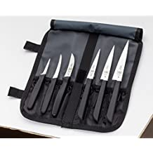 Mercer Culinary 7Piece Carving Knife Set, Black