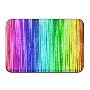 Colores del arco iris antideslizante reutilizable alfombrilla de suelo
