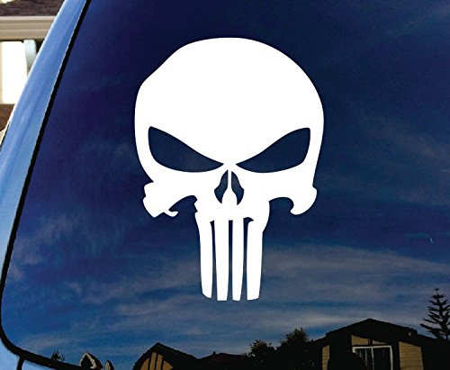 Keen Punisher Skull Car Window Vinyl Decal Sticker 5 in Tall