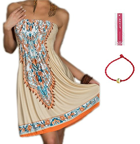 ACVIP Women's Bohemian Beach Dresses