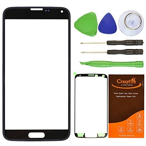 CrazyFire Black New Front Outer Glass Lens Screen Replacement for sale  Delivered anywhere in USA