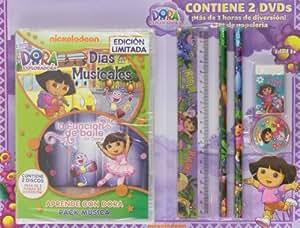Pack: Dora, La Exploradora: Días De Colegio Musicales + La Función De Baile (+ Set De Papelería) [DVD]