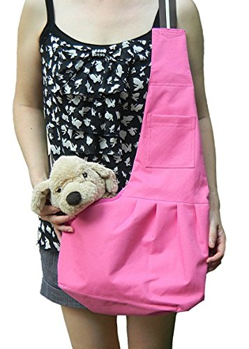 Pineocus Pet Dogs Sling Carrier Bag (Pink, M)