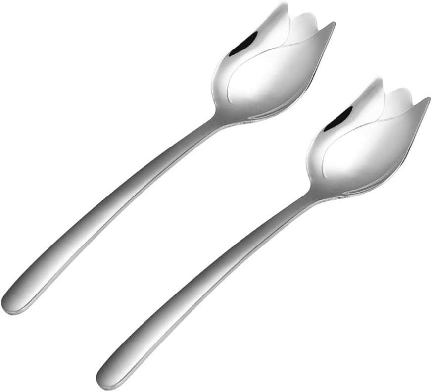 Posate da insalata 2 pezzi cucchiaio e forchetta in corno Pianolo LAQ Design