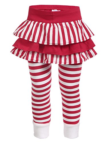 Anhoney Girls Spring Warm Striped Leggings Lined Elastic Waist Pants