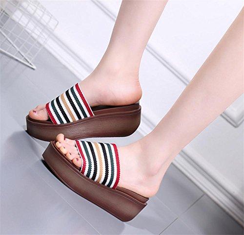 1 de Sandales Un talon Bottom talon femme Fashion n¨¦ pengweiMuffin Slippers tra mot d'¨¦t¨¦ 5zWO0qwwxC
