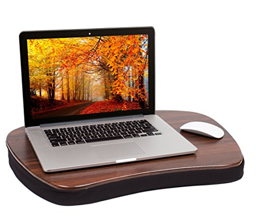 Sofia + Sam Oversized Memory Foam Lap Desk (Black) | Supports Laptops Up to 20 Inches