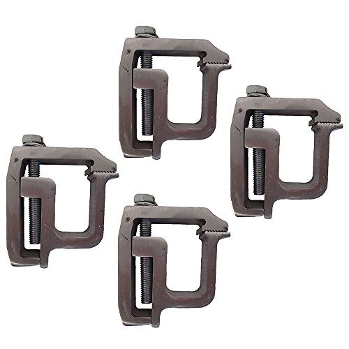 - (4) Heavy Duty Mounting Clamps Truck Cap Camper Shell Topper TL-2002