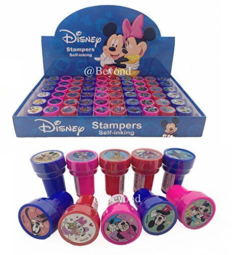 New! (60ct) Disney Mickey & Minnie Mouse Stamps Stampers Self-inking Party Favors- Full Box!